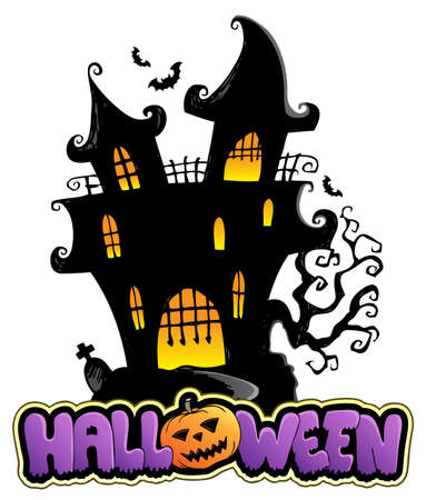 Scene with Halloween  Vector