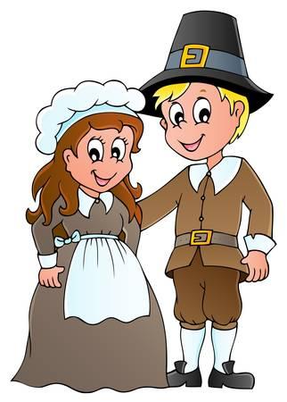 Thanksgiving pilgrim  Stock Vector - 15374149
