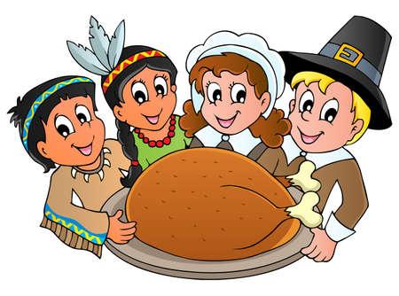 p�lerin: Thanksgiving de p�lerin Illustration