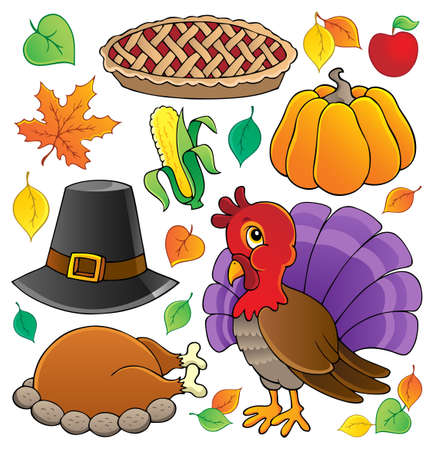 Thanksgiving theme collection  Vector
