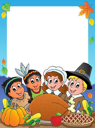 turkey thanksgiving: Gracias marco tem�tico