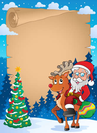 letter from santa: Christmas thematic parchment
