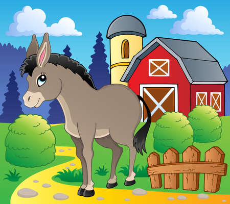 Donkey theme image Stock Vector - 15824033
