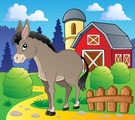 farm structure: Donkey theme image
