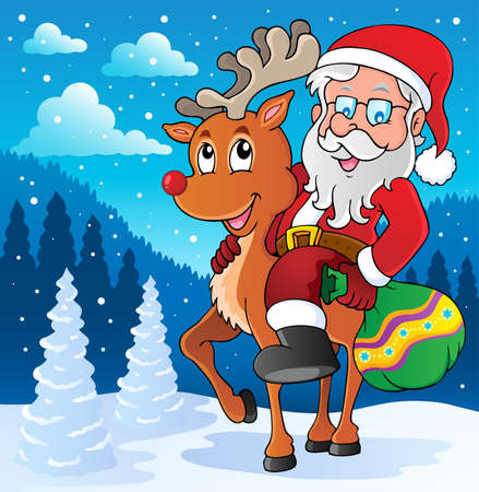 Santa Claus thematic image Vector