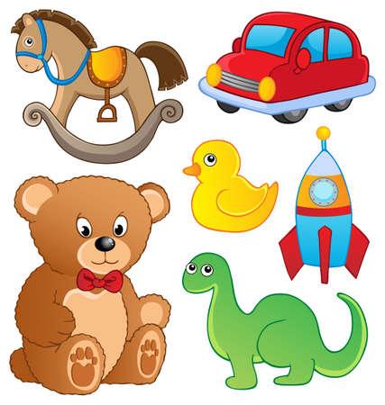 juguete: Varios juguetes de colecci�n Vectores