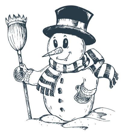 Winter snowman theme Stock Vector - 15824132