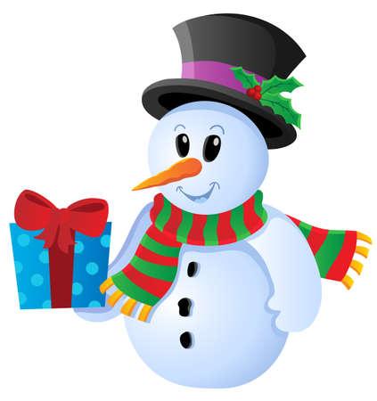 Winter snowman theme image