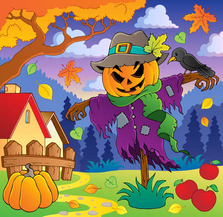 autumn scarecrow: Autumn thematic image 2