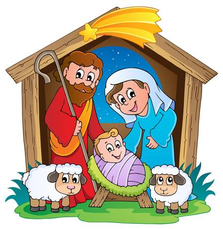 christmas nativity: Christmas Nativity scene 2  Illustration