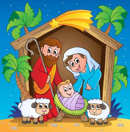 Christmas Nativity scene 3 Stock Vector - 16270202