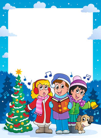 canta: Natale tema telaio 9 Vettoriali