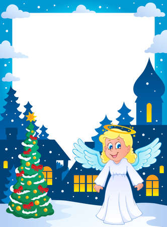 Christmas topic frame 1  Vector