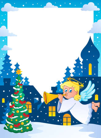 Christmas topic frame 2 - vector illustration  Vector