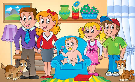 Family theme image 1 - Vector