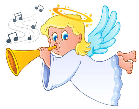 Image with angel 3 Stock Vector - 16272954