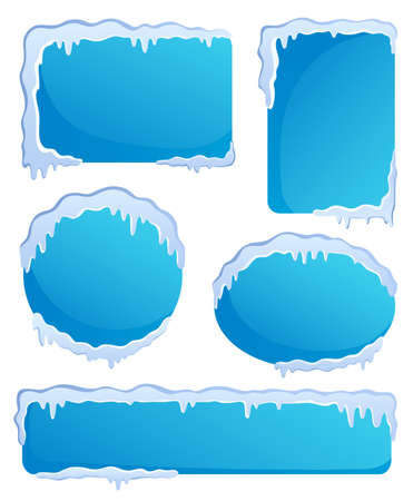 Winter labels theme image 1 - vector illustration  Stock Vector - 16272980