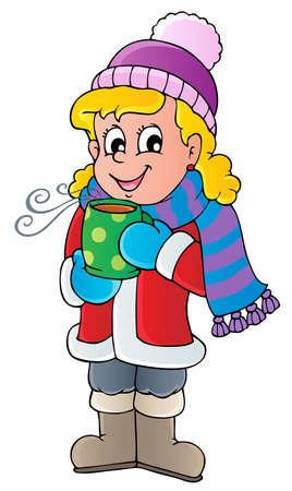 fille hiver: Image de dessin anim� hiver personne 1