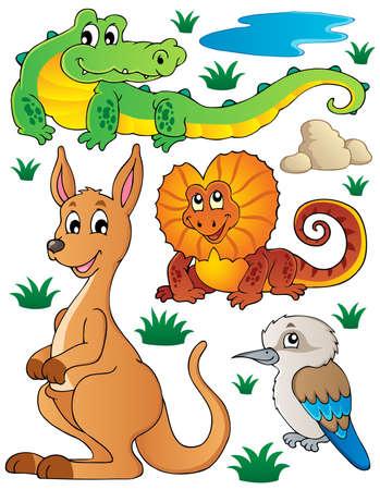 Australian wildlife fauna set 2 - vector illustration