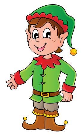 elf christmas: Duende de la Navidad Tema 1 - ilustraci�n vectorial