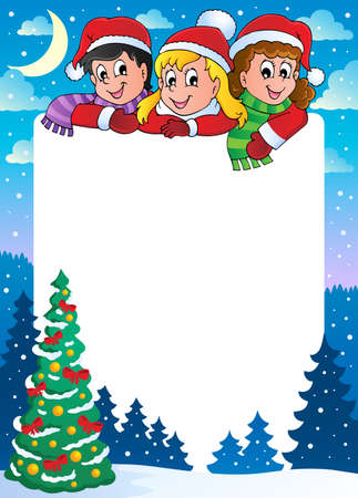 Christmas topic frame 3 - vector illustration  Stock Vector - 16503890