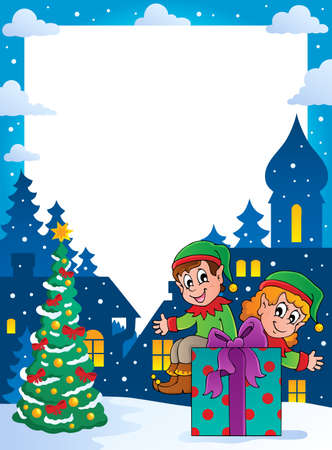 Christmas topic frame 4 - vector illustration Stock Vector - 16503887