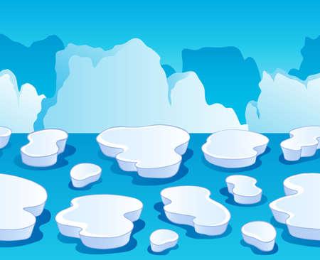 Horizontally seamless sea ice 1 - vector illustration Stock Vector - 16503892
