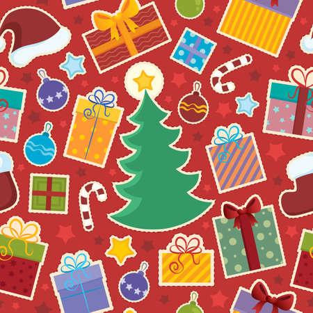 Seamless background Christmas 1 - vector illustration Stock Vector - 16503909