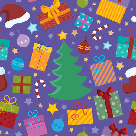 Seamless background Christmas 2 - vector illustration  Vector