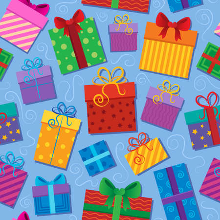 Seamless background gift theme 2 - vector illustration  Vector