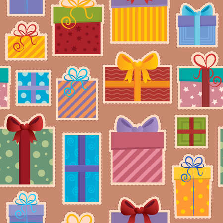 Seamless background gift theme 3 - vector illustration  Vector