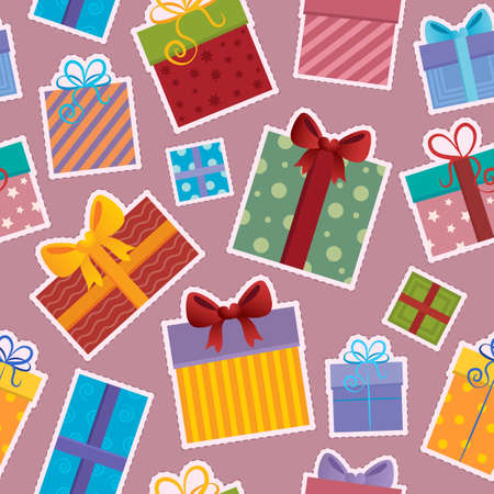 Seamless background gift theme 4 - vector illustration  Vector