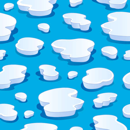 iceberg: Seamless background with iceberg 1 - vector illustration  Illustration