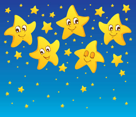 Theme with stars 1 - vector illustration Stock Vector - 16503872