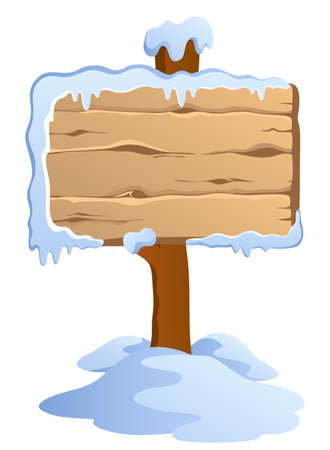 panel: Winter labels theme image 4 - vector illustration