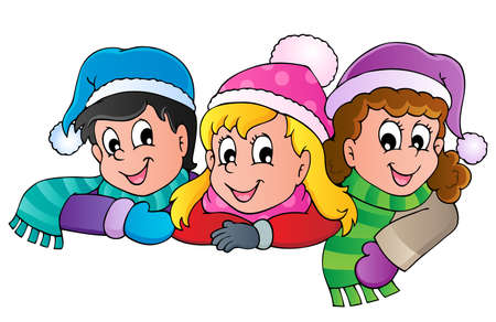 Winter person cartoon image 4 - vector illustration