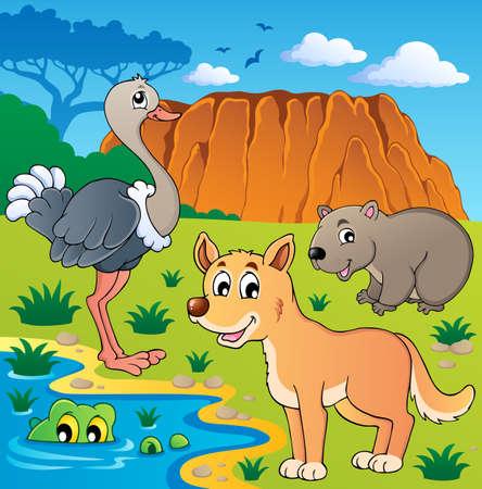 wombat: Australian animales ilustración tema Vectores
