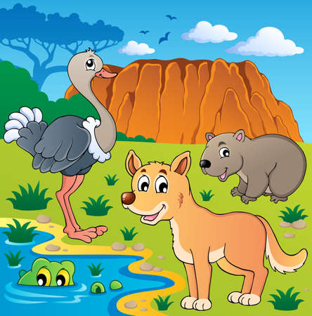 Australian animals theme illustration Stock Vector - 16906771