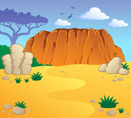Australian theme landscape illustration  Illustration