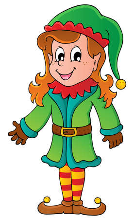 Christmas elf theme illustration  Vector