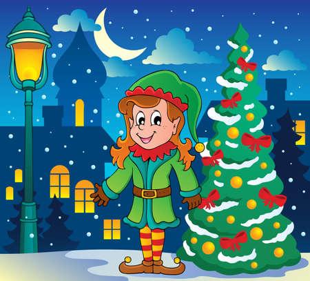 Christmas elf theme illustration  Stock Vector - 16906732