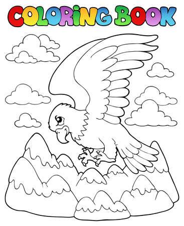 oiseau dessin: Coloriage illustration image livre sur les oiseaux