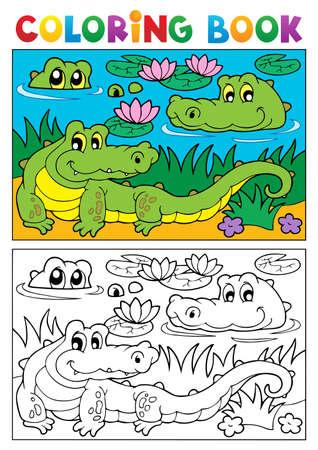 Malbuch Krokodil Bild, Abbildung,