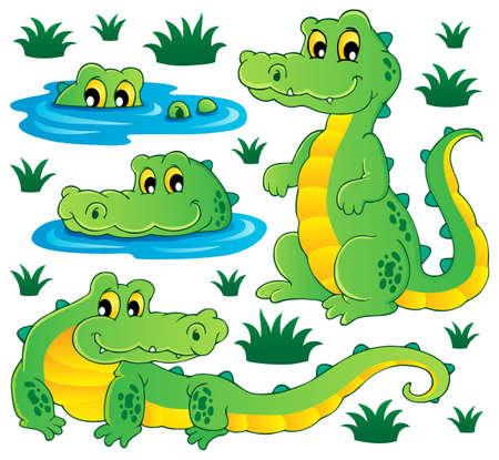 Obraz z ilustracji motyw krokodyla