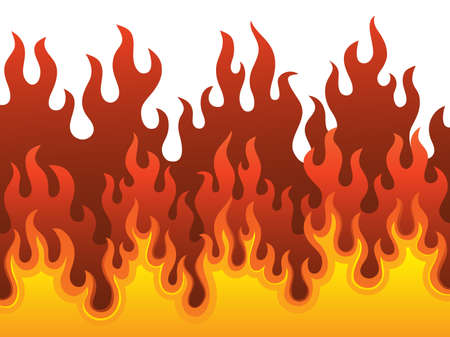 Image with fire theme illustration Stock Vector - 16905273