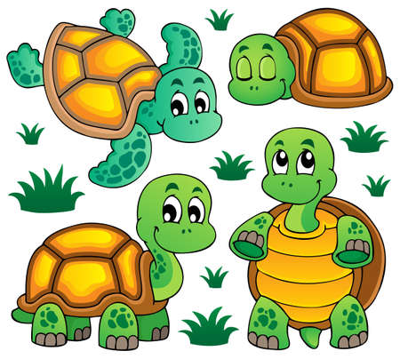 Image with turtle theme illustration  Vector