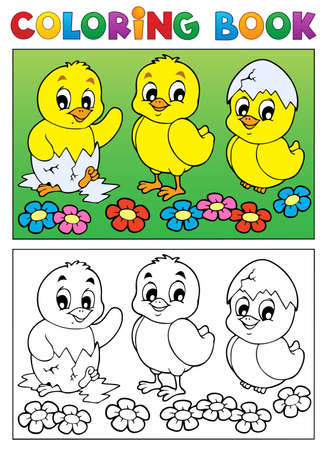 Coloring book bird image 6 - vector illustration