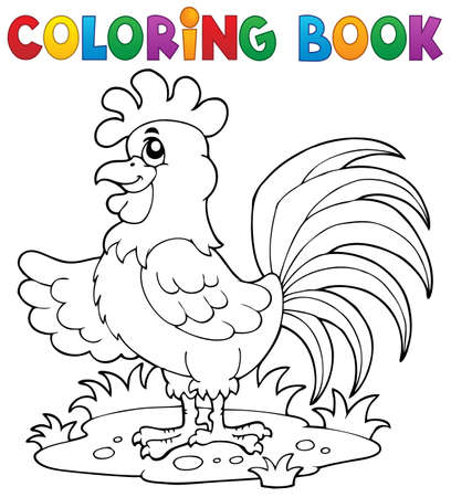 fowl: Coloring book bird image 7 - vector illustration