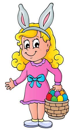 Easter theme girl - vector illustration  Stock Vector - 17368296