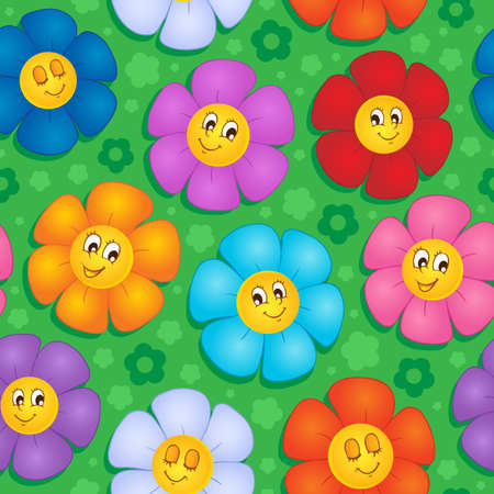 Flowery seamless background 8 - vector illustration Stock Vector - 17368248